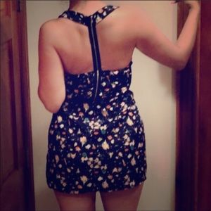 Forever 21 floral dress with zipper back detail